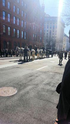 """2016-02-28: JFK's funeral is re-enacted for """"Jackie"""" (2017)."""