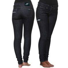 Philadelphia Eagles Ladies End Zone Skinny Jeans - Dark Rinse