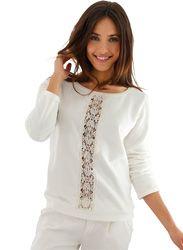Sudadera mujer con encaje 100% algodón