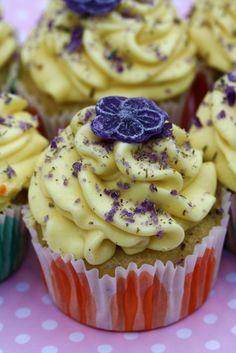 vegan lavendar cupcakes with lemon buttercream frosting...be still my fluttering heart rate