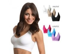 0dac325cfd858 3-Pack  Seamless Miracle Bras with Removable Pads