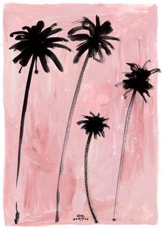 Palm trees art print by Hotel Magique.  Shop online HOTELMAGIQUE.COM