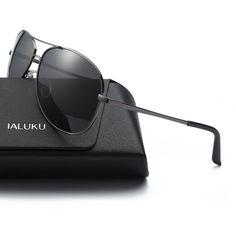 8e01f29549 Iambcoolin.com  IALUKU Aviator Sunglasses Polarized for Men Classic Pilot Metal  Frame UV400 (Grey   Grey