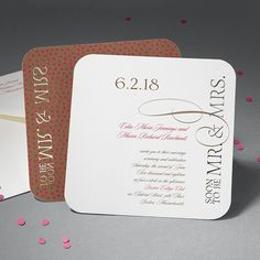 We love laser cut invitations! The exact precision and detail that goes into every invitation to make it unique, is extraordinary!