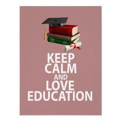 Behalten Sie Ruhe-und Liebe-Bildungs-einzigartigen