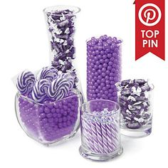 Purple - Baby Shower Candy Buffet Kit | BigDotOfHappiness.com