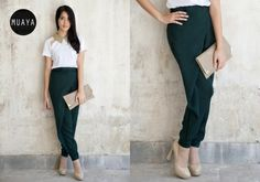 HYDRANGEA GREEN PANTS - muaya clothing - #fashion #womensfashion #womenswear