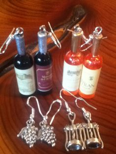 Wine jewelry by Freighterart on Etsy, $8.00 with a tiny bottle of Marques de #Caceres!