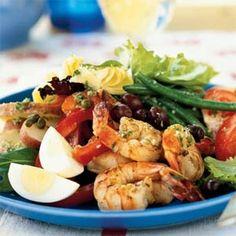 Prawn salad....perfect hot weather dinner