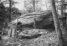 Galaxer cave dwellers on Yonahlossee Road, Blowing Rock, North Carolina -- May 12, 1912. Frank W. Bicknell Photograph Collection, North Carolina State  Archives, Raleigh, NC. - Click image to find more history Pinterest pins