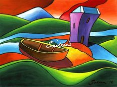 Grainne's Castle by Saileen Drumm on ArtClick.ie Irish Art - County Mayo Artwork Prints, Fine Art Prints, Grace O'malley, Sea Queen, Irish Art, House Painting, Online Art Gallery, All Art, Original Paintings