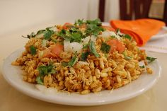 Hot, Sweet and Tangy Puffed Rice Salad: Bhel Puri Recipe