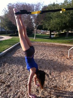 TRX Handstand to mountain climbers or push ups.   Roll down to get out.