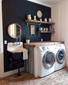 Top Modern Farmhouse Laundry Room Design Ideas Reveal Efficiency Space Our new modern farmhouse laundry room makeover sneak peek full of budget-friendly DIYs and tips for keeping your laundry smelling fresh. Farmhouse Laundry Room, Farmhouse Remodel, Laundry Rooms, Laundry Decor, Mud Rooms, Laundry Room Organization, Laundry Room Design, Storage Organization, Laundry Room Colors