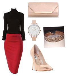 """""""Untitled #10"""" by xqueen-lynnx on Polyvore featuring BLK DNM, Dune, Olivia Burton and Dorothy Perkins"""