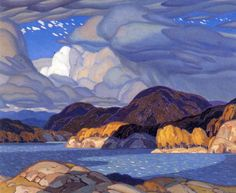 Alfred Joseph Casson, Canadian - October, University of Alberta Art Collection, Canada, Group of Seven Tom Thomson, Canadian Painters, Canadian Artists, Landscape Art, Landscape Paintings, Wow Art, Art Plastique, Painting Inspiration, Painting & Drawing