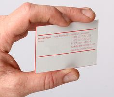 Yoma Architects red edge painted business card designed by Kobi Benezri.