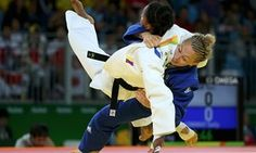 Great Britain's Sally Conway and Yuri Alvear of Colombia.