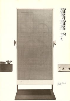 A Braun L 80 floor-standing speaker designed by Dieter Rams (1962). Photo taken for the cover of  Design+Design Magazine number 31 (Apr/May 1995) by Jo Klatt