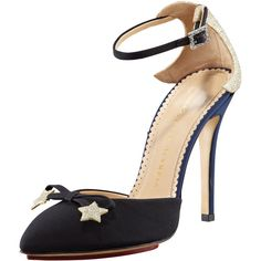 Charlotte Olympia My Lucky Stars Astrid Ankle-Strap Pump ($682) ❤ liked on Polyvore