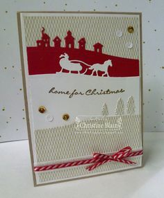 STAMPIN' UP! SLEIGH RIDE CARD IN RED