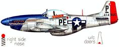 352FG George E. Preddy P-51D Mustang. Ww2 Aircraft, Fighter Aircraft, Military Aircraft, Ww2 Pictures, P51 Mustang, Ww2 Planes, United States Army, Nose Art, Aviation Art