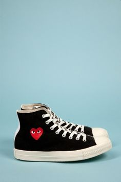 CdG Play K105 Converse Hi Black