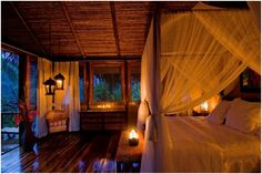 An extremely romantic and secluded honeymoon that would be so amazing and just so romantic