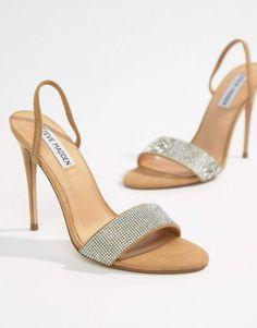8479493644f Steve Madden Fierce Rhinestone Slingback Heeled Sandals