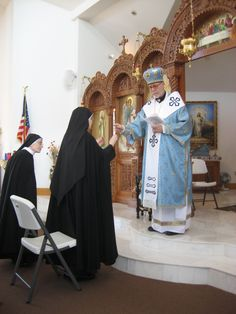 Sister Teresa Anne Marie Loscocco professed her solemn perpetual vows and became a contemplative nun in the Sacred Heart Monastery of the Order of the Sisters of St. Basil the Great.