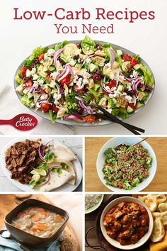 Cutting back on carbs? Try one of these low-carb recipes for dinner tonight! Low Carb Recipes, Vegetarian Recipes, Cooking Recipes, Healthy Recipes, Heathly Dinner Recipes, Cooking Hacks, Healthy Snacks, Healthy Eating, Healthy Dinners