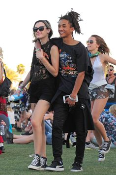 Sarah Snyder and Jaden Smith Coachella