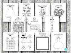 Printable Download Wedding Kids Activity and Coloring Book - Instant Download. This item is Digital file (download file) for you to print at home or at a print shop. No physical item will be posted to you. You will be able to access your purchased files from your purchase account, link