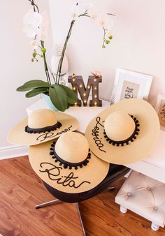 BEIGE COLOUR Hat Customized Summer Hat Pompoms