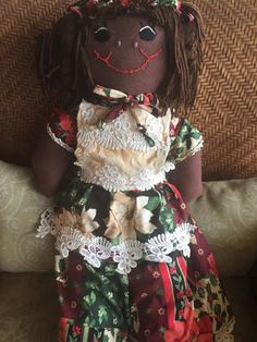 """Hanna Holiday"" Our Christmas Rag Doll -  -  - http://www.dollsbybertrand.com/store  - 1"