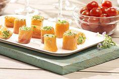 Zalm-garnaalbonbons met tuinkers - Colruyt Culinair !