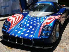Patriotic Race Car Blue V, Red White Blue, American Pride, American Flag, Army Ranks, July Baby, Cars Usa, I Love America, Car Trailer