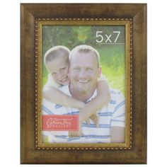"""5"""" x 7"""" Bronze Frame with Thin Beaded Line"""