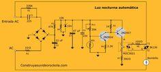 Luz nocturna automatica - Excelente explicación paso a paso con fuente desde 220V y con optoacoplador y triac a la salida