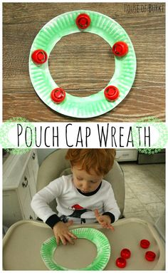 Pouch Cap Wreath (and an FMF giveaway!) - House of Burke