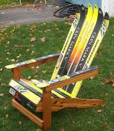Merveilleux Adirondack Ski Chair. $200.00, Via Etsy.