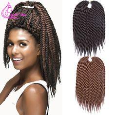 """Promotion Afro Twist Crochet Cheveux Synthétique Crochet Tressage Extensions de Cheveux 75 g/pack 12 """"Havana Mambo Twist Crochet Tresses"""