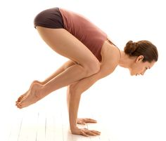 To build up to crow pose, you should practice yoga moves that strengthen your arms, core, and thighs. Becker suggests doing squat poses, plank poses, chaturangas, and chair pose.