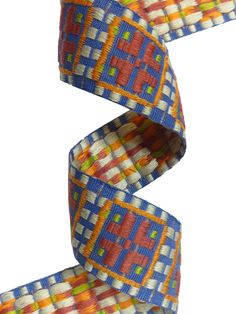 multicolored fantasy ribbon with a geometric pattern