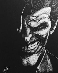 The Joker - Black and White by allengrimes on DeviantArt