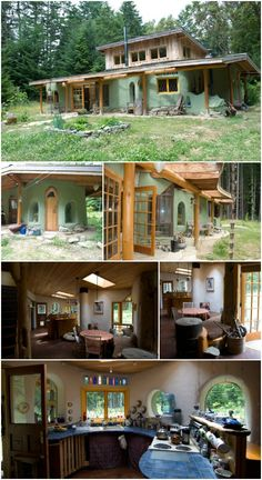 """When most folks decide to build a home, they get some timbers and construct a wood frame. There are actually a number of other approaches you can take however involving different materials and techniques. One fascinating method is to work with """"cob. Earthship Home, Adobe House, Natural Homes, Earth Homes, Natural Building, Building A House, Cob Building, Little Houses, Future House"""