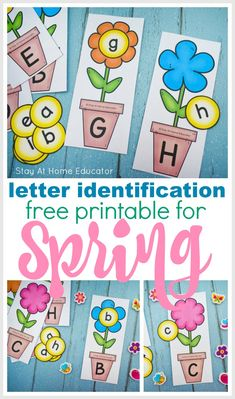 A fun Alphabet Spring Theme Printable set that will help your preschoolers with letter recognition, identification as well as upper and lowercase. Preschool Centers, Preschool Learning Activities, Preschool Themes, Spring Activities, Spring Theme For Preschool, Letter Activities, Letter Identification Activities, In Kindergarten, Letter Recognition