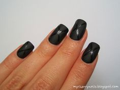 nails, nailart, black, shiny, mat, manicure, x Cherry Nails, Nailart, Manicure, Black And White, Beauty, Ongles, Nail Bar, Nails, Blanco Y Negro
