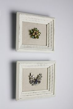 Frame grandma's old broaches, or any jewelry for that matter