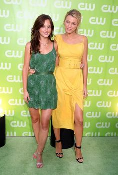 Leighton Meester Actresses Leighton Meester (L) and Blake Lively arrive to the CW Television Critics Association Press Tour party at the Fountain Plaza at the Pacific Design Center on July 20, 2007 in West Hollywood, California.  (Photo by Kevin Winter/Getty Images) *** Local Caption *** Blake Lively;Leighton Meester